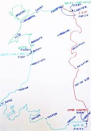 Map Of Wales Three Legs 1000 Miles All The Trails In Wales Wales Border