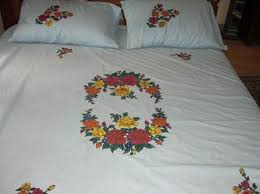 bed sheet fabric craft painting craft painting on bed sheets