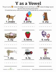 y as a vowel handwriting worksheets phonics and worksheets