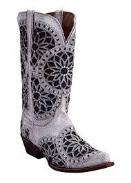 western boots womens mandela blossom white 84061 19