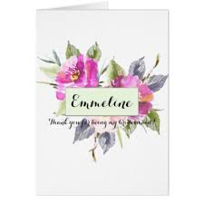 thank you bridesmaid cards pink roses for name day card zazzle