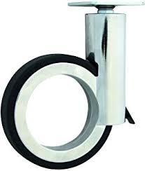 design m belrollen design möbelrollen mit stift und bremse zamak schwarz weiß 100mm