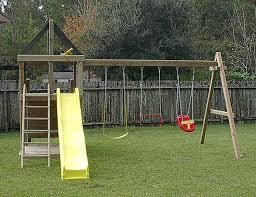 wooden baby swing plans how to build wood fort and swing set plans