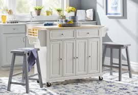 august grove comte kitchen cart island with natural wood top default name