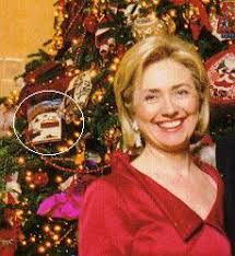 White House Christmas Ornament - clinton with the southwest christmas ornament