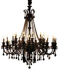 Crystal And Black Chandelier Jet Black Crystal Chandelier With 30 Lights Traditional