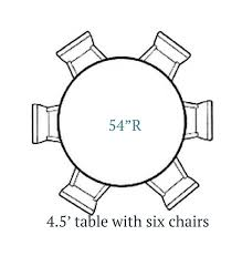 cottage home 4 5 ft round farmhouse table 6 chairs kitchens