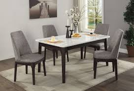 5 pc dining table set janel real marble 5 piece dining table set mattress king of las vegas