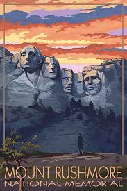 South Dakota Travel Posters images Mount rushmore national memorial south dakota jpg