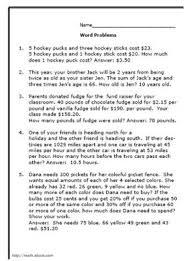 6th grade math word problems worksheet worksheets