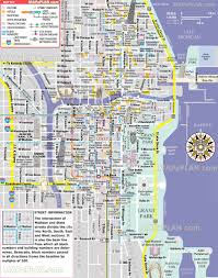 Chicago Map Of Usa by Chicago Map Free Inner City Map Showing Magnificent Mile