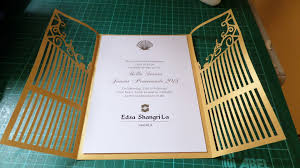 Js Prom Invitation Card Designs Cut Out Wrought Iron Gate For Invitation Pop Up Occasions