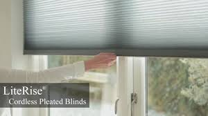 Cordless Window Shades Literise Cordless Pleated Blinds Youtube