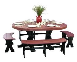 Dining Table Set Of 4 4x6 Oval Dinner Table With Benches Patio Table Sets Sales Prices