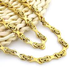 gold colored chain necklace images New fashion mens chain boys necklace gold color chain necklace for jpg
