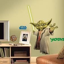 Amazon Com Roommates Rmk1402gm Star Wars The Clone Wars Yoda