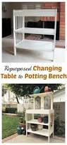 Repurpose Old Furniture by 146 Best Cribs U0026 Changing Tables Repurposed Images On Pinterest