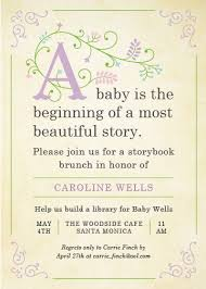 storybook themed baby shower invitations theruntime