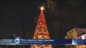 Honolulu City Lights Christmas Tree Lights Up As Holiday Festivities Kick Off At