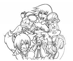 brilliant and stunning kingdom hearts coloring pages pertaining to