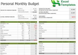 Excel Home Budget Template Sle Monthly Budget Sle Monthly Household Budget Monthly