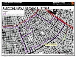 Districts Of New Orleans Map by Ncptt Maps And Lists Katrina Rita