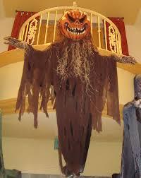 12 ft tall scary pumpkin hanging prop
