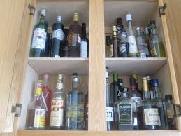 How To Organize Kitchen Cabinet by Liquor Cabinet How To Organize Kitchen Cabinets Popsugar Food