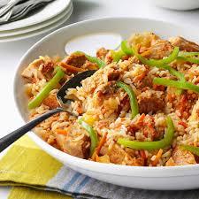 cajun thanksgiving cajun pork and rice recipe taste of home