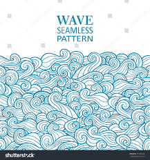 Design An Invitation Card Waves Seamless Border Pattern May Be Stock Vector 372126748