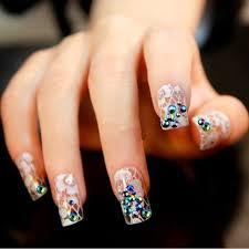imagenes de uñas acrilicas con pedreria uñas de acrílico o gel decoradas 2018 de 60 fotos para inspirarse