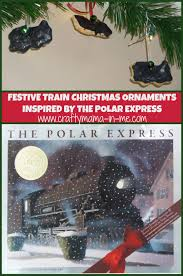 festive ornaments inspired by the polar express