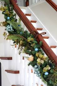 How To Decorate Banister With Garland Christmas Garland