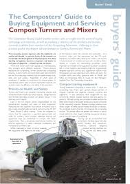 buyers u0027 guide to buying compost turners u0026 mixers