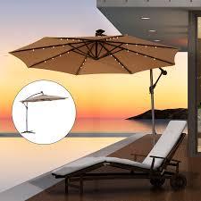 outsunny 10 u0027 outdoor offset tilt patio umbrella garden sunshade 8