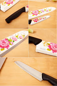 royal rose flower knife chef kitchen cutlery korea stainless