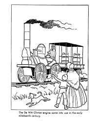 usa printables early american transportation coloring pages