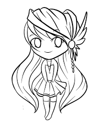 chibi coloring pages coloringsuite com