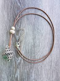 necklace boho images Boho leather necklace with bell and beads country heartstrings JPG