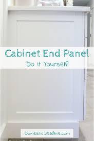 cabinet ends ideas diy cabinet end panels domestic deadline diy cabinets