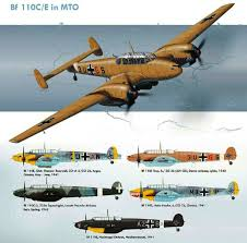 messerschmitt bf 110 in the med color profiles wwii luftwaffe