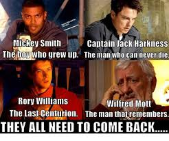 Wilfred Meme - mickey smith captain jack harkness the boy who grew up the man who