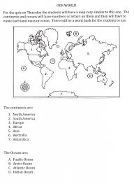 America Map Quiz by Continents And Oceans Quiz On Thursday U2013 The Mr H And Ms