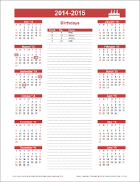 Free Birthday Calendar Template Excel Birthday Calendar Template Yearly Birthday Calendar
