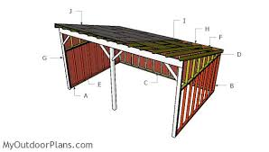 How To Build A Lean To Shed Plans by Tractor Shed Plans Myoutdoorplans Free Woodworking Plans And