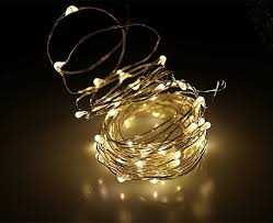 buyertime 5m 16 4ft 50 leds string lights silver wire lights