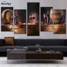 panneau mural pour cuisine 5 panneau mural fruits raisin vin en verre photo pour