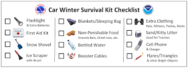 winter weather safety in your vehicle