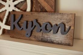 custom name wood word cutout scroll cut name custom cursive