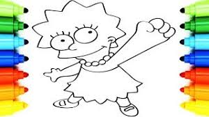 hmongbuy net draw simpsons coloring pages lisa